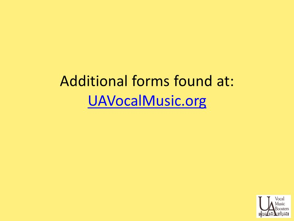 Additional forms found at: UAVocalMusic.org UAVocalMusic.org