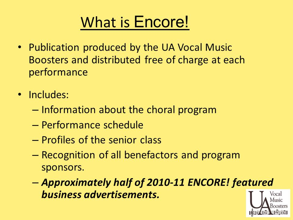 Why is Encore.Important. Funds raised through Encore.