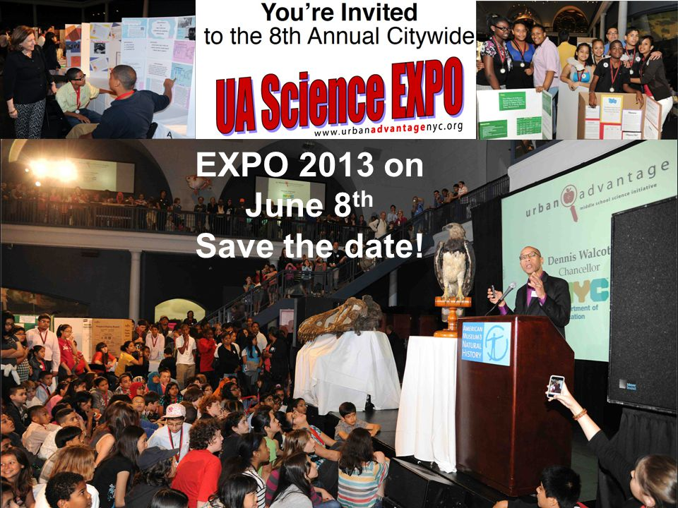 EXPO 2013 on June 8 th Save the date!