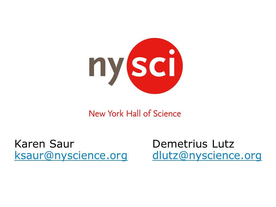 Karen SaurDemetrius Lutz ksaur@nyscience.orgdlutz@nyscience.org
