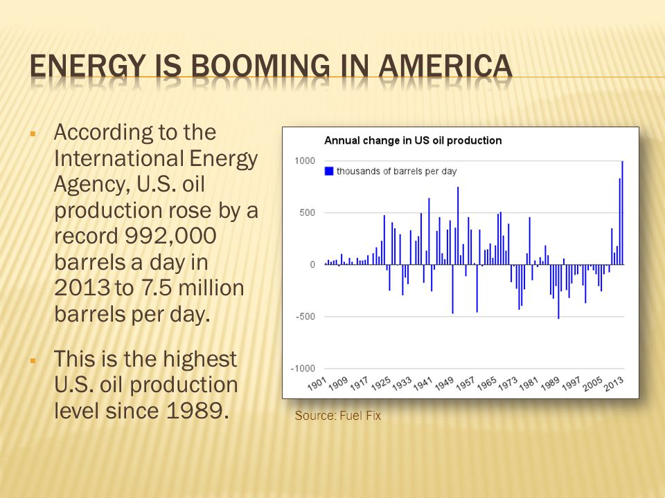  The U.S.Energy Information Administration (EIA) has predicted that U.S.