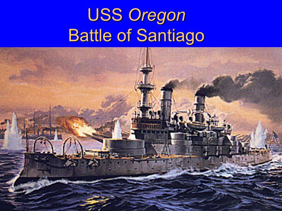 USS Oregon Battle of Santiago