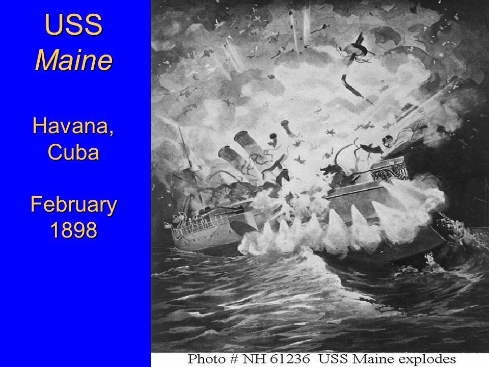 USS Maine Havana, Cuba February 1898