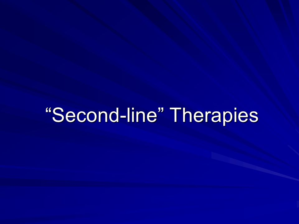 Second-line Therapies