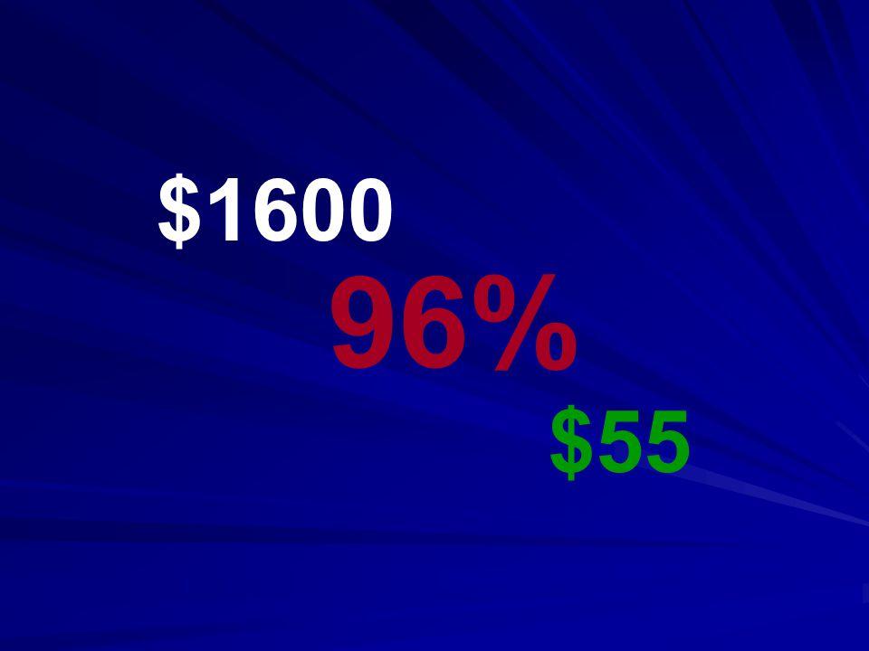 $1600 $55 96%