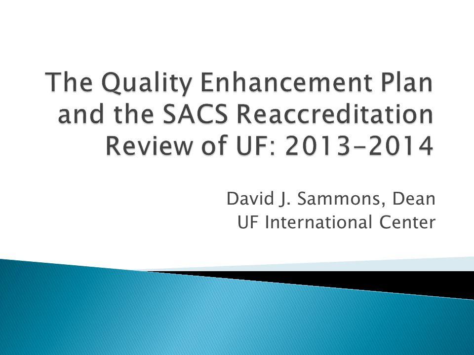 David J. Sammons, Dean UF International Center