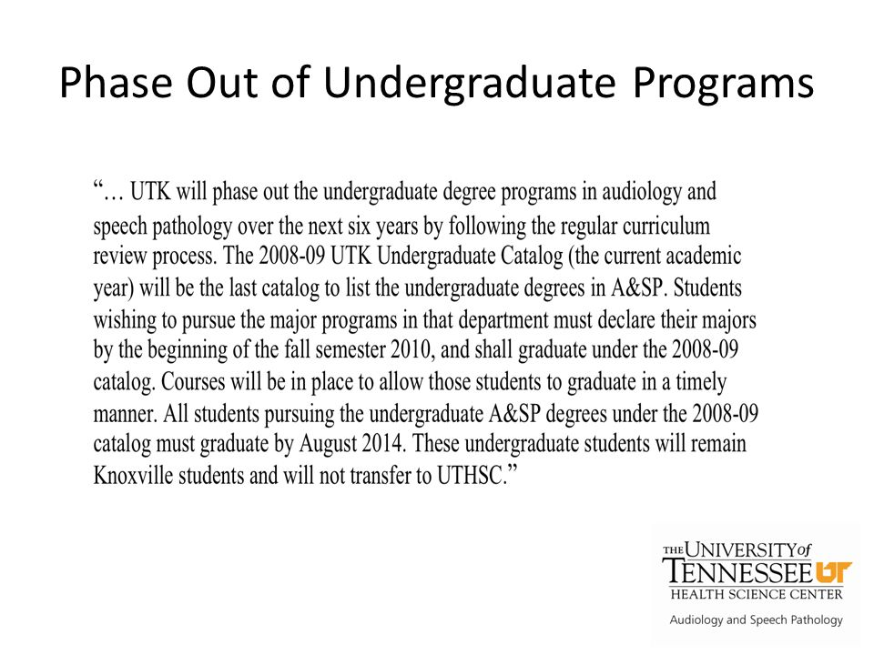 Why Transfer the UG Program.