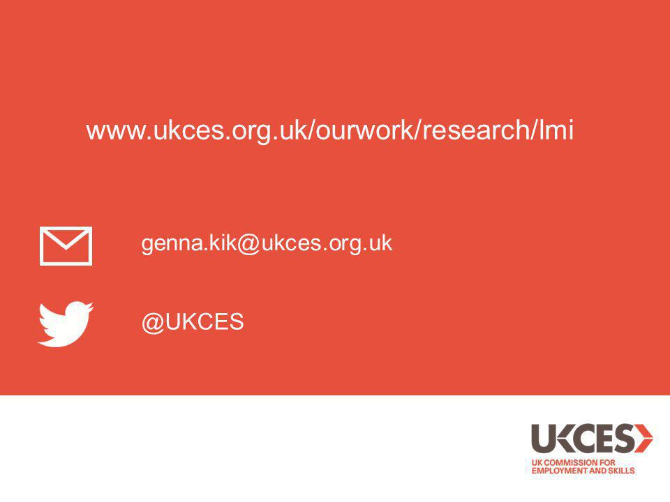 @UKCES genna.kik@ukces.org.uk www.ukces.org.uk/ourwork/research/lmi