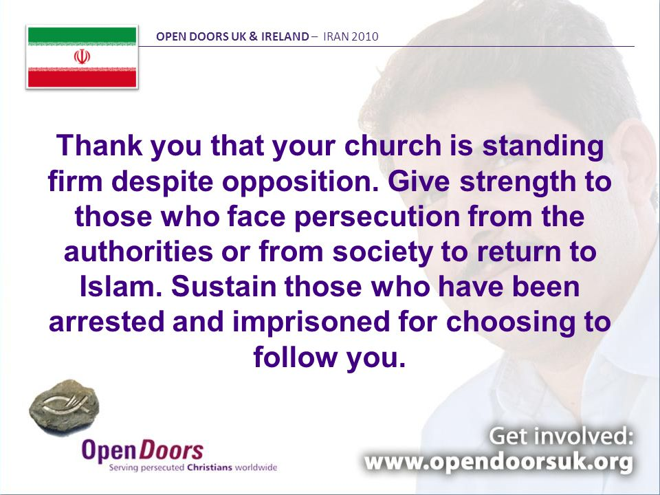 Thank you that your church is standing firm despite opposition.