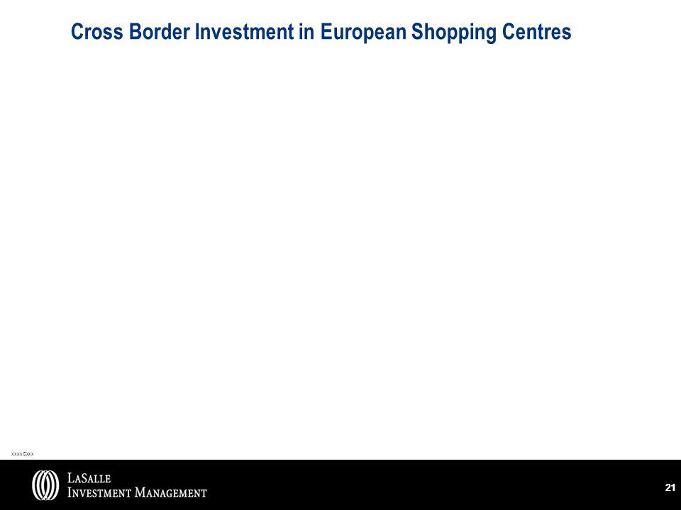 xxxxCxxx 21 Cross Border Investment in European Shopping Centres