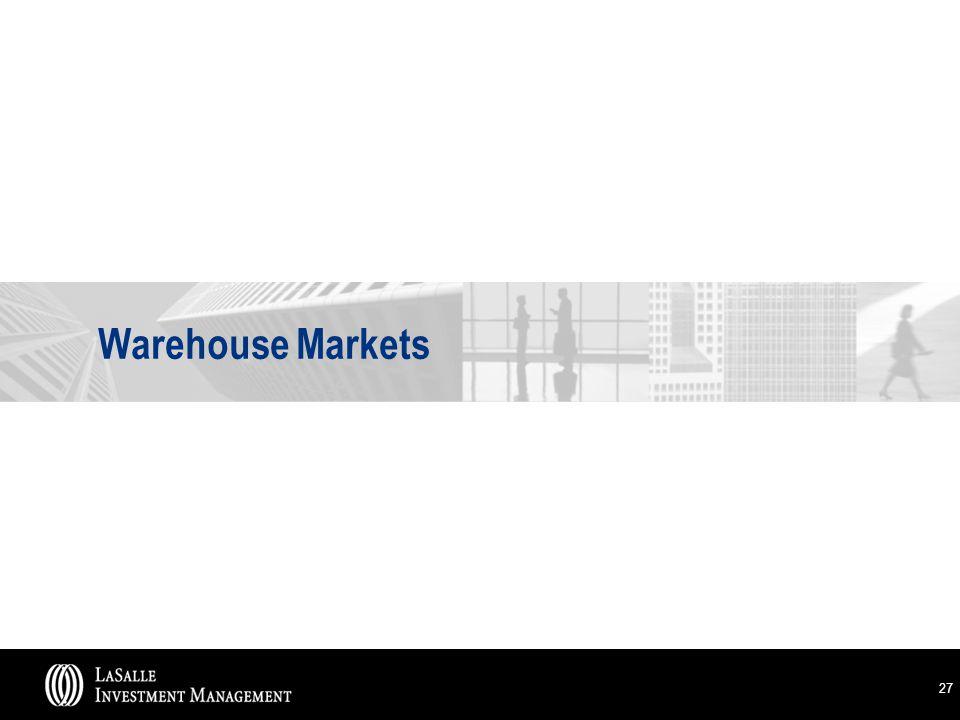 27 Warehouse Markets
