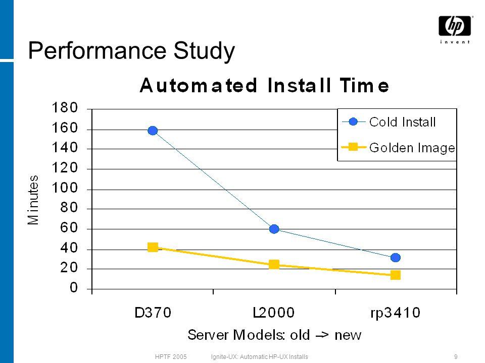 HPTF 2005 Ignite-UX: Automatic HP-UX Installs9 Performance Study