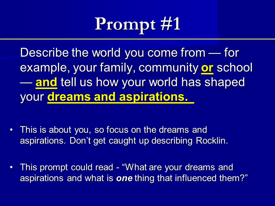 Prompt 1 Tips World is a versatile term.What really makes up your world .