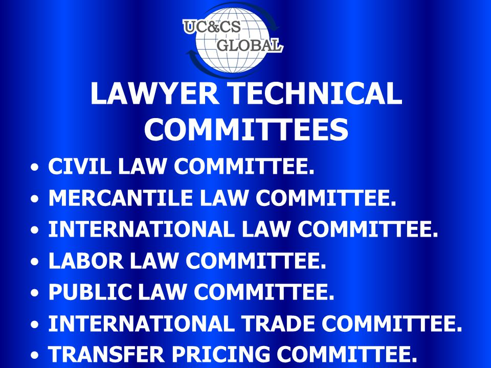 LAWYER TECHNICAL COMMITTEES CIVIL LAW COMMITTEE. MERCANTILE LAW COMMITTEE.