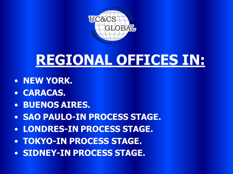 REGIONAL OFFICES IN: NEW YORK. CARACAS. BUENOS AIRES.