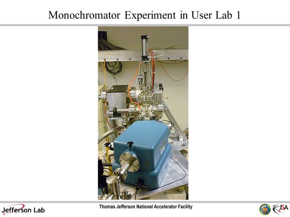 Monochromator Experiment in User Lab 1