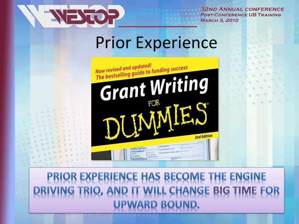 Prior Experience