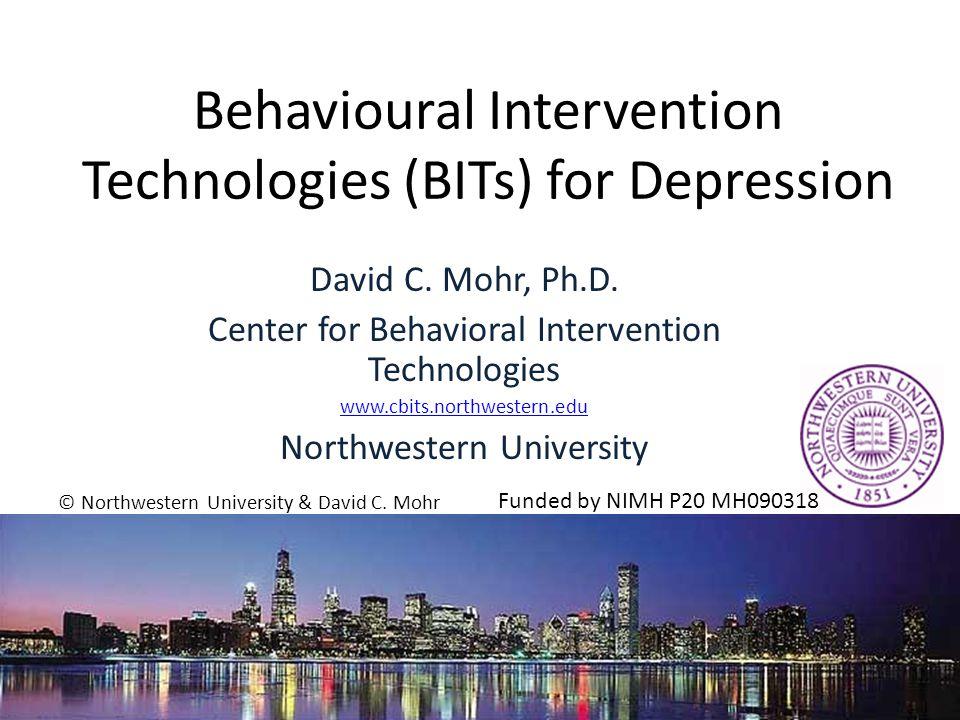 Depression Depression Mohr, et al, Ann Behav Med.2006;32:254-258; Mohr, et al, J Clin Psychol.
