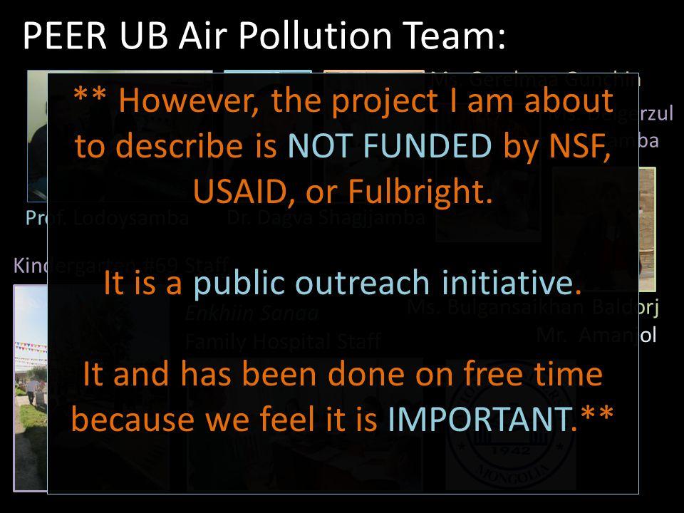 PEER UB Air Pollution Team: Dr. Dagva Shagjjamba Ms.