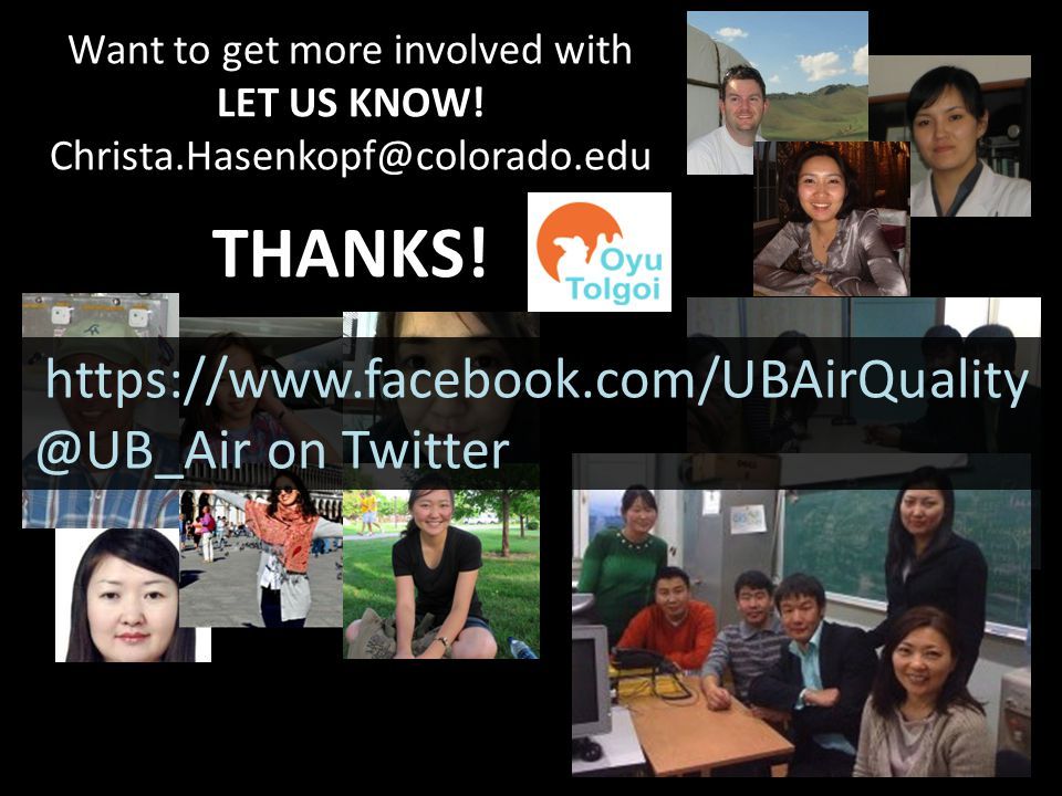 Want to get more involved with LET US KNOW.Christa.Hasenkopf@colorado.edu THANKS.