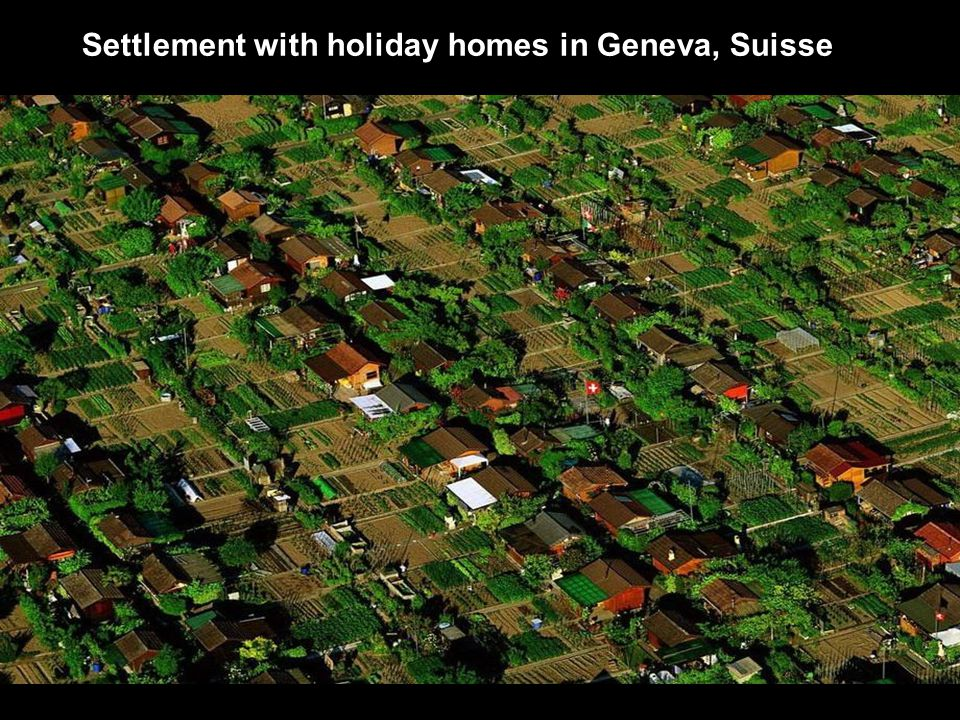 Settlement with holiday homes in Geneva, Suisse