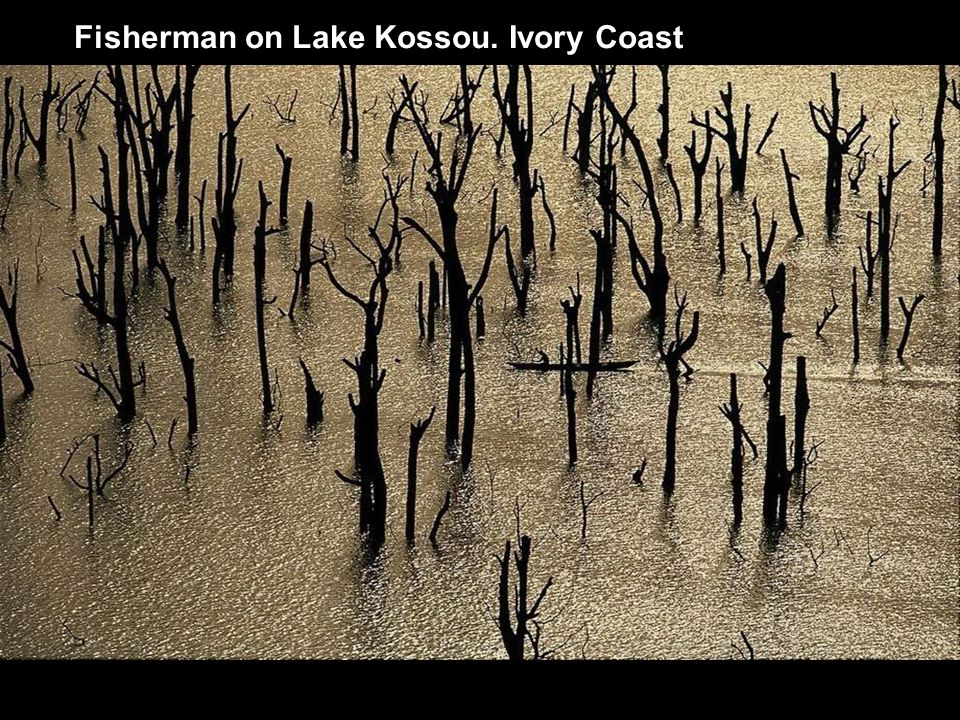 Fisherman on Lake Kossou. Ivory Coast