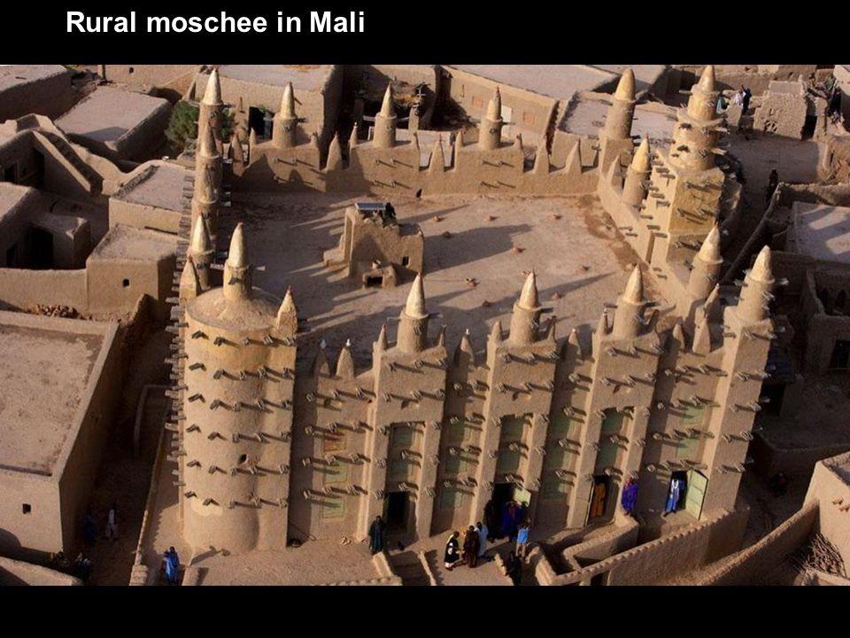 Rural moschee in Mali