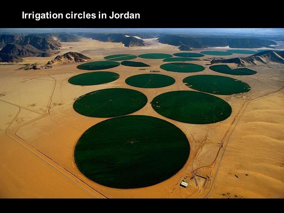 Irrigation circles in Jordan