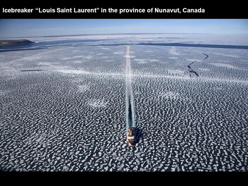 "Icebreaker ""Louis Saint Laurent"" in the province of Nunavut, Canada"