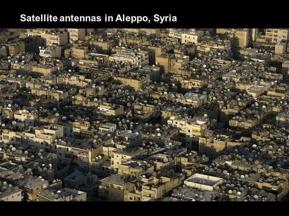 Satellite antennas in Aleppo, Syria