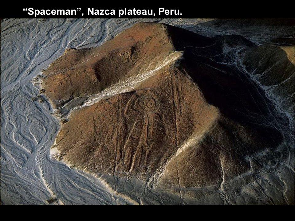 Spaceman , Nazca plateau, Peru.