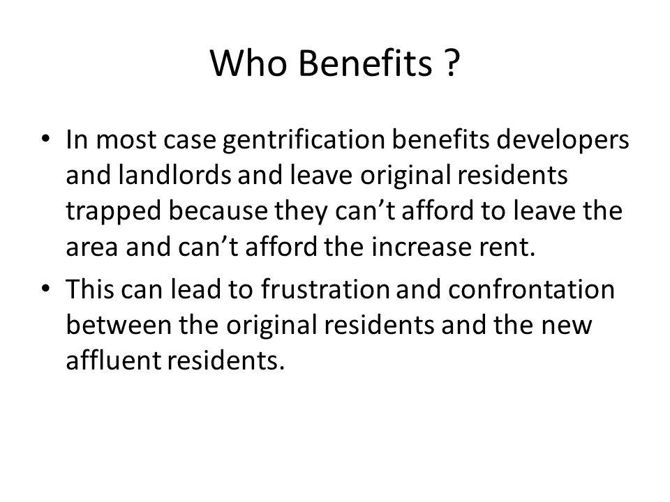 Who Benefits .