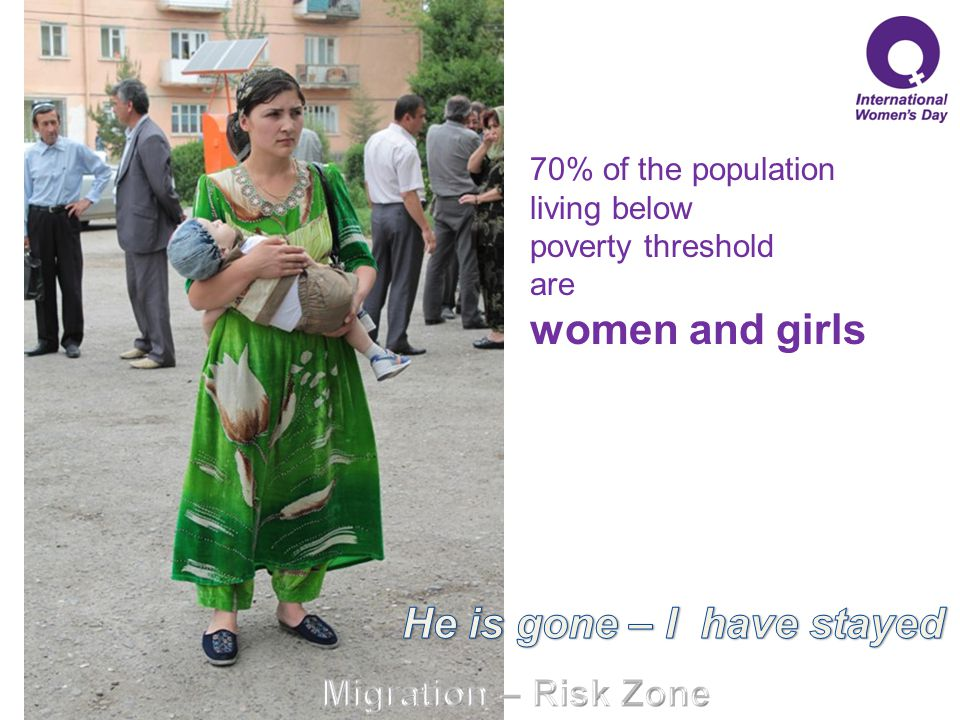 70% of the population living below poverty threshold are women and girls