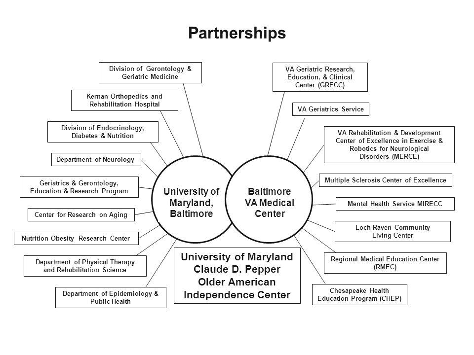 Partnerships Baltimore VA Medical Center VA Geriatric Research, Education, & Clinical Center (GRECC) VA Geriatrics Service VA Rehabilitation & Develop