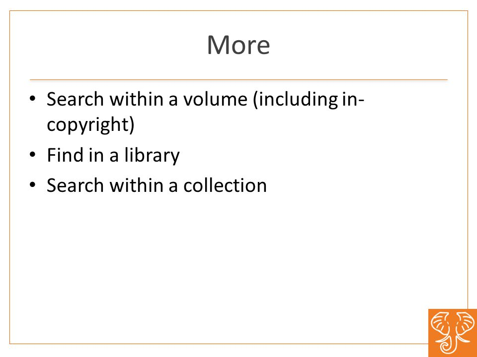 More Search within a volume (including in- copyright) Find in a library Search within a collection