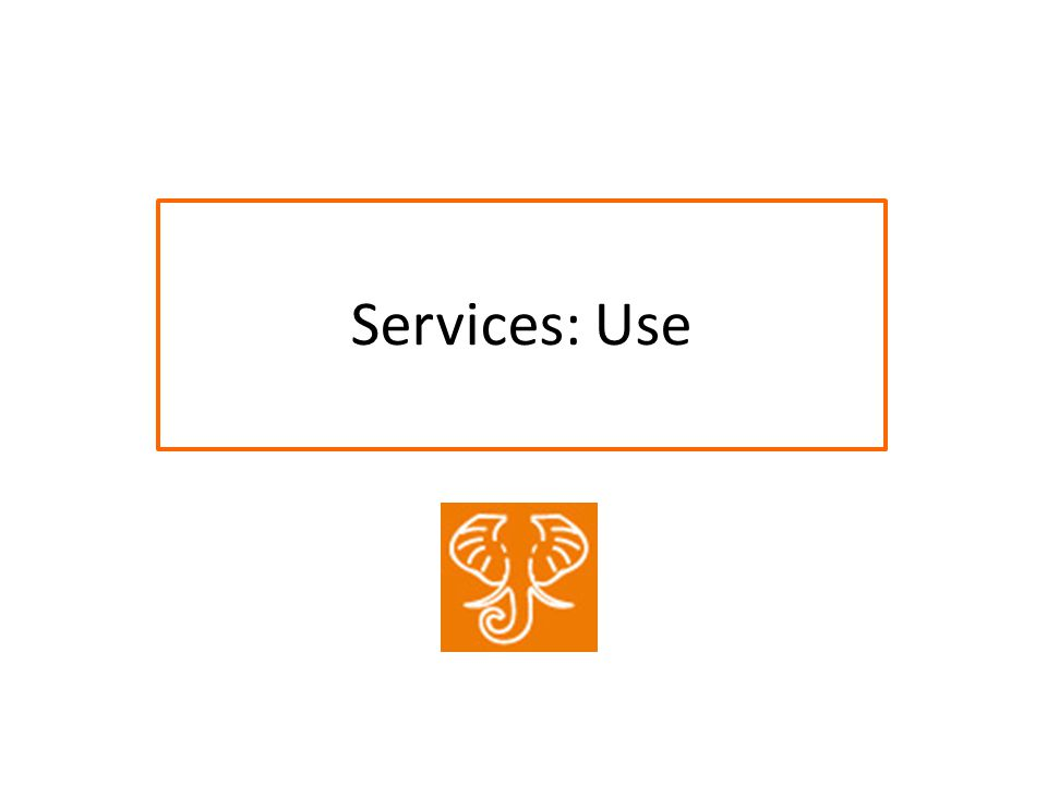 Services: Use