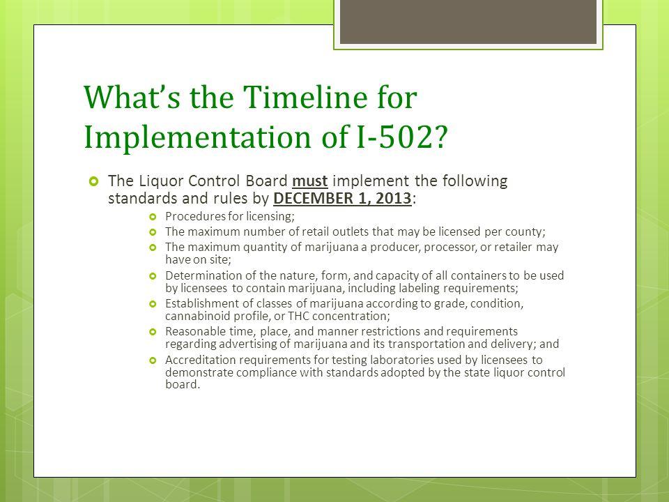 Is Testing Mandatory Under I-502. Short answer is YES.