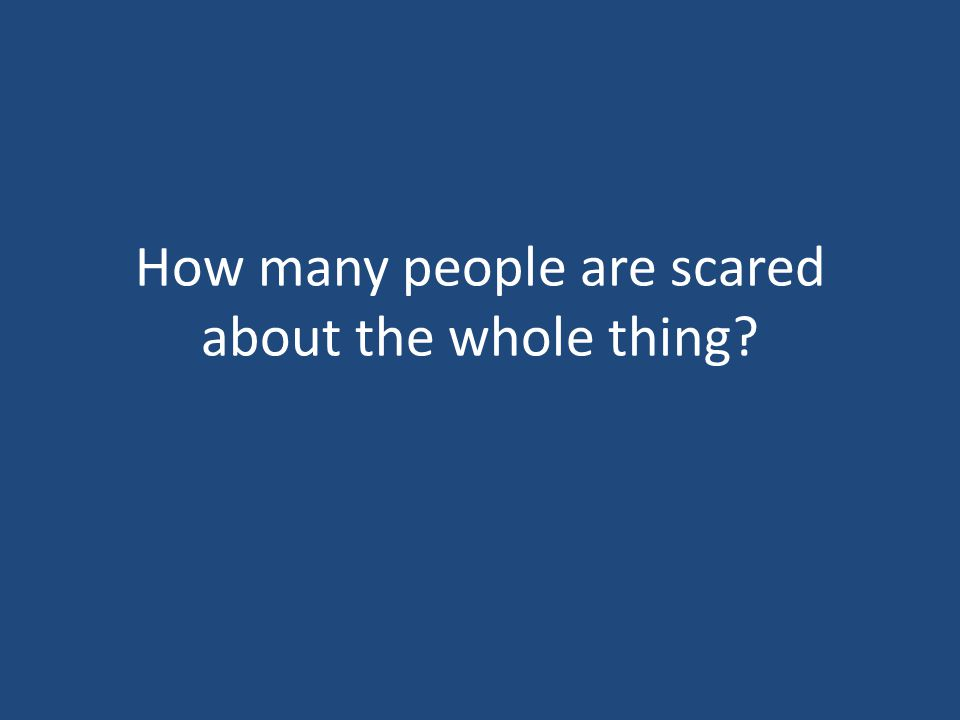 How many people are scared about the whole thing?