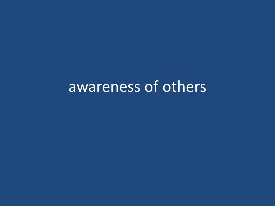 awareness of others