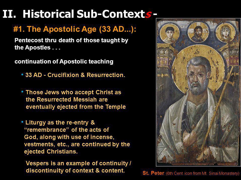 II. Historical Sub-Contexts - #1.