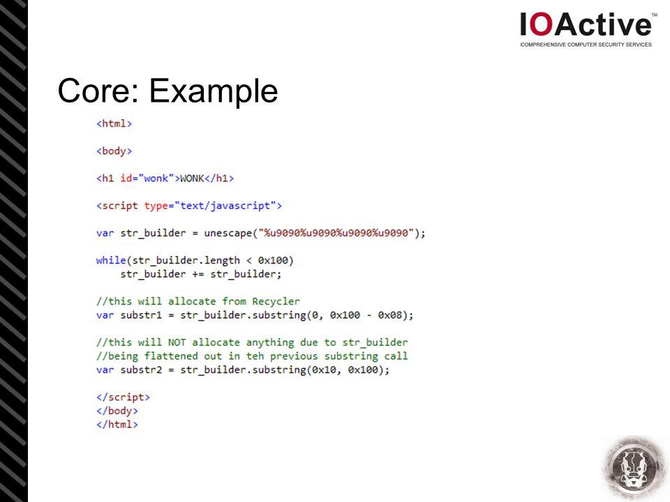 Core: Example