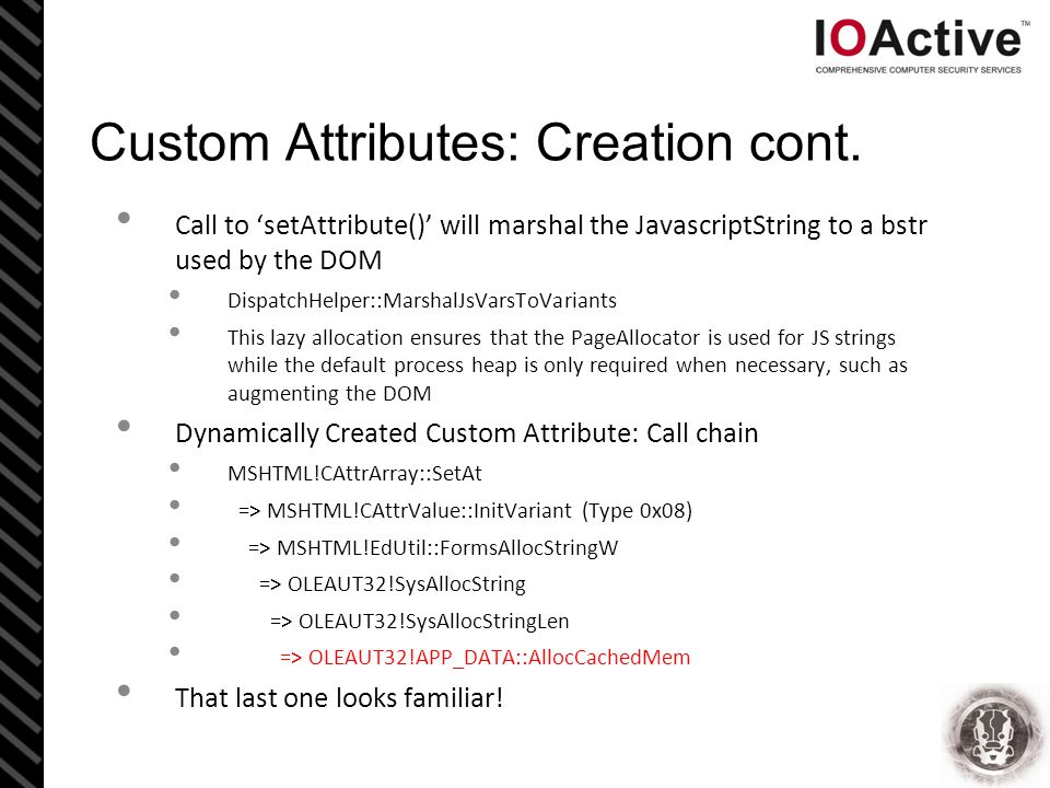 Custom Attributes: Creation cont.