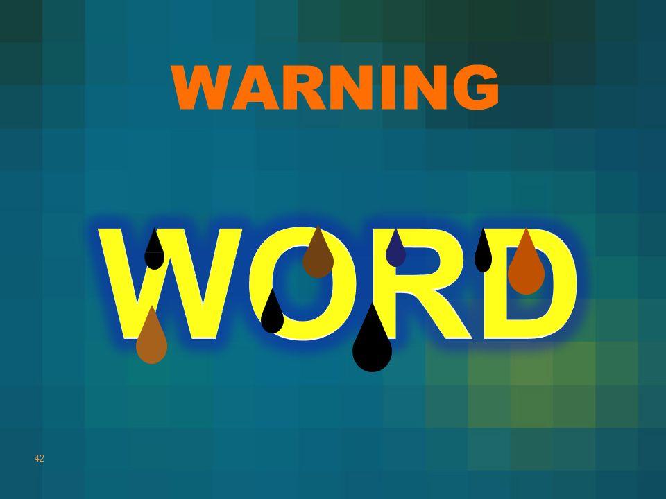 WARNING 42