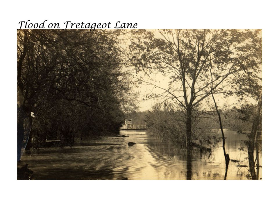 Flood on Fretageot Lane