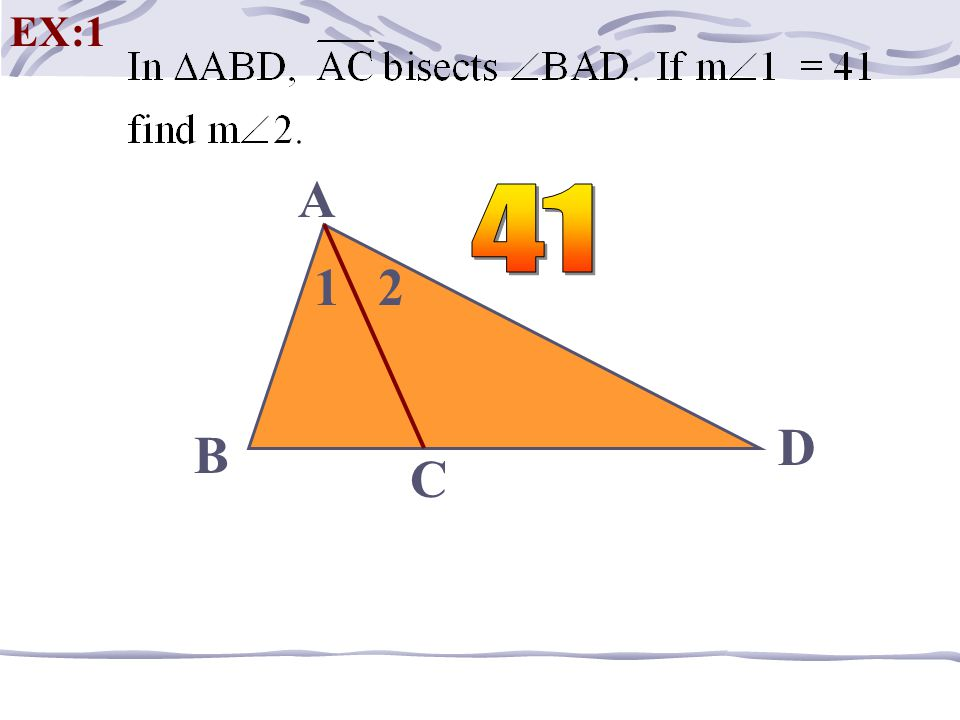 Point of Concurrency of the Angle Bisectors Always INSIDE the triangle! Equidistant from the SIDES of a triangle