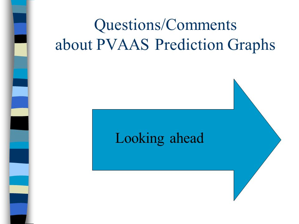 Questions/Comments about PVAAS Prediction Graphs Looking ahead
