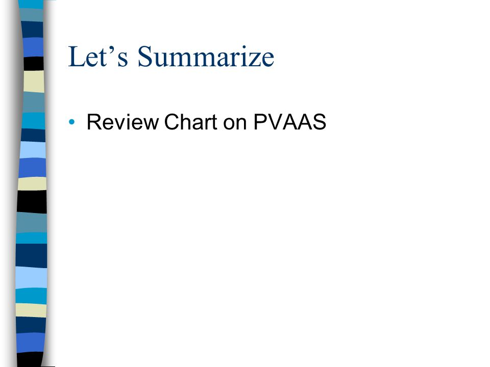 Let's Summarize Review Chart on PVAAS