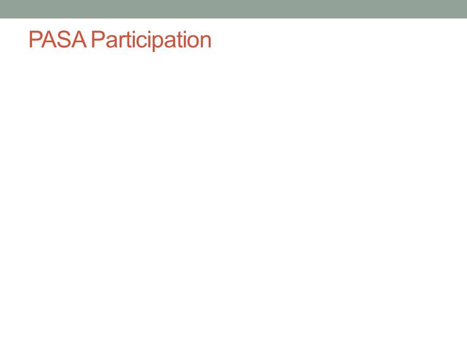 PASA Participation