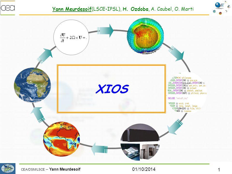 CEA/DSM/LSCE – Yann Meurdesoif 01/10/2014 1 XIOS Yann Meurdesoif(LSCE-IPSL), H.