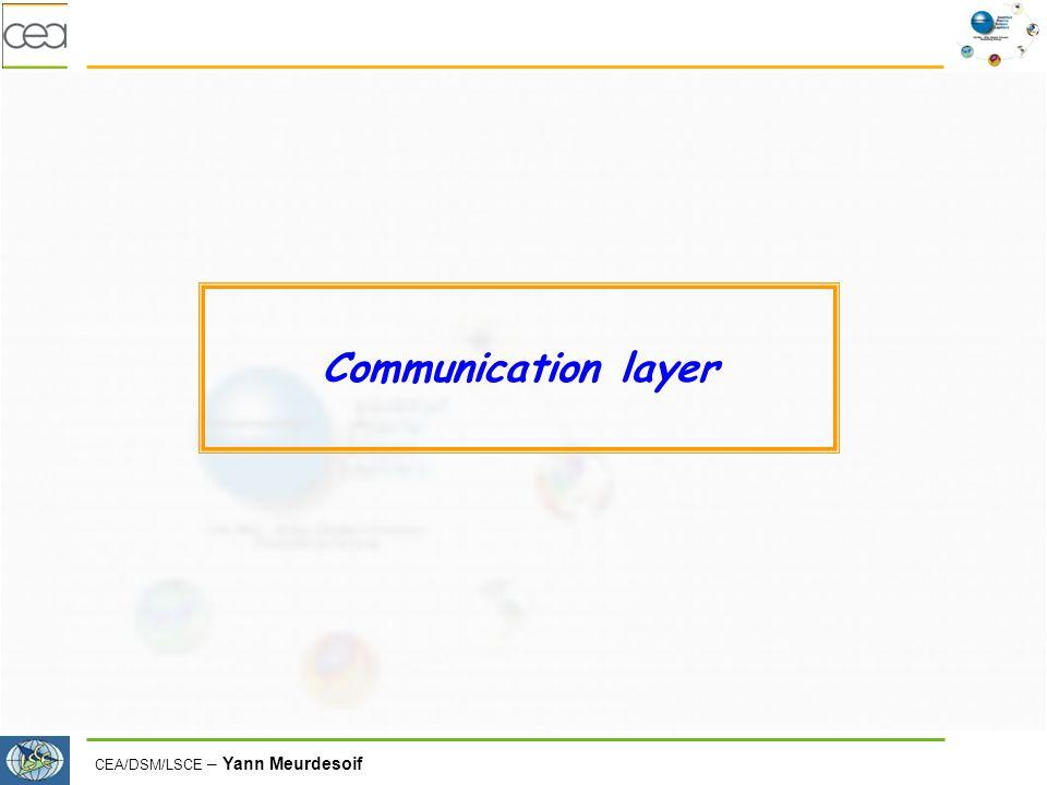 CEA/DSM/LSCE – Yann Meurdesoif Communication layer